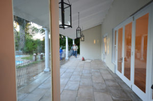 Upstairs patio before renovation