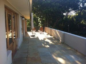 Upstairs patio before renovation
