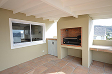 Braai with Sliding Window to Kitchen