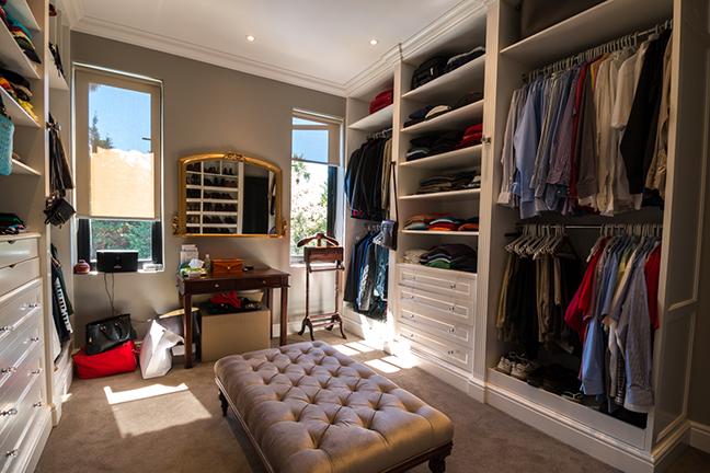 Main bedroom change room