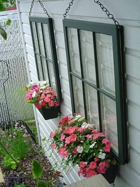 Repurposed Ideas - Image courtesy of https://blog.gardenloversclub.com/gardens/gardening-using-old-windows/